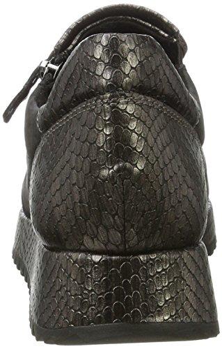 Tamaris Damen 24701 Sneaker, Schwarz (Blk/Pewter Str), 38 EU
