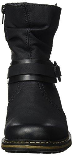 Rieker Damen Z6881 Stiefel, Schwarz (Schwarz/Schwarz), 39 EU