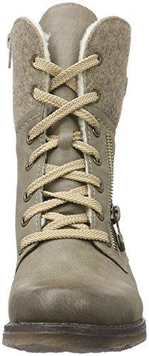 Rieker Damen 79609 Kurzschaft Stiefel, Beige (Kiesel/Wood/Wood / 64), 38 EU