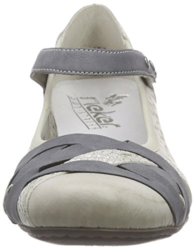 Rieker 41797 Women Closed-Toe, Damen Pumps, Weiß (ice/jeans/ice/80), 40 EU