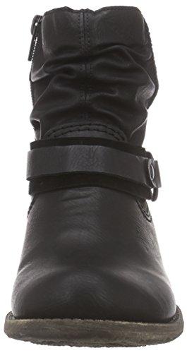 Rieker 74762 Damen Kurzschaft Stiefel, schwarz (schwarz/schwarz/01), 42