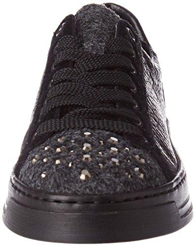 Rieker Damen L8510 Sneaker, Grau (Granit/Schwarz/Basalt/Schwarz), 42 EU