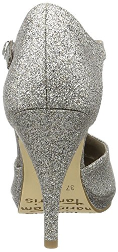 Tamaris Damen 24428 Pumps, Silber (Platinum Glam 970), 39 EU