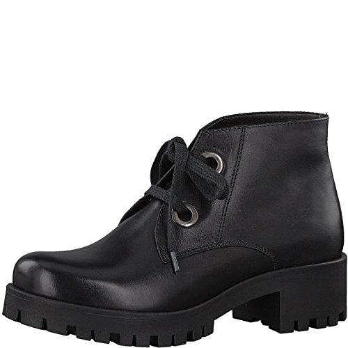 Tamaris 1-1-25223-39 Damen Stiefel, Stiefelette, Schnürstiefel, Schnür-Boot, Boot, Herbstschuh für die modebewusste Frau schwarz (BLACK), EU 40