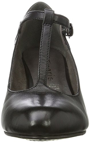 Tamaris Damen 24435 T-Spangen Pumps, Schwarz (Black), 40 EU