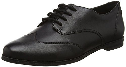 Clarks Damen Andora Trick Brogues, Schwarz (Black Leather), 40 EU