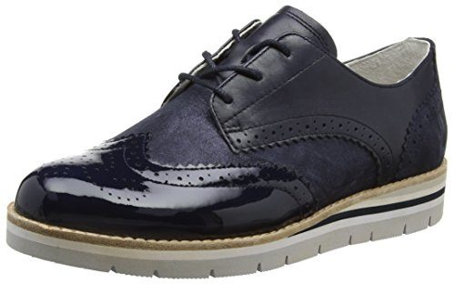 Gabor Shoes Damen Comfort Brogue Schuhe, Blau (Ocean/Navy 26), 40 EU