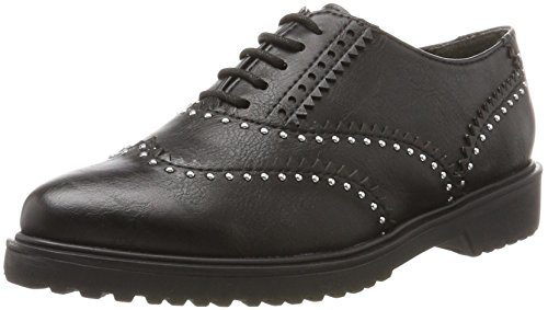 Marco Tozzi Damen 23735 Brogues, Schwarz (Black Antic), 38 EU