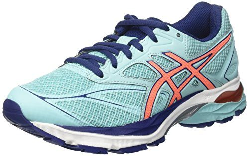 Asics Damen Gel-Pulse 8 Laufschuhe, Blau (Aqua Splash/Flash Coral/Indigo Blue), 39 EU