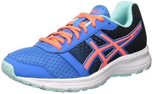 Asics Patriot 8, Damen Laufschuhe Für Das Training auf der Straße, Mehrfarbig (Diva Blue/Flash Coral/Aqua Splash), 39 EU