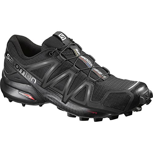 Salomon Speedcross 4 Damen Traillaufschuhe, Black/Black/Black Metallic, 39 1/3 EU