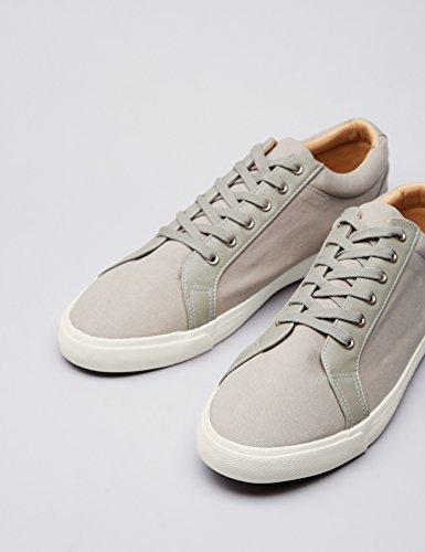 FIND Sneaker Herren Aus Canvas mit Retro-Design, Grau (Grey), 44 EU