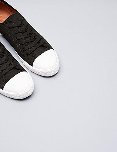 FIND Sneaker Herren Aus Stoff mit Retro-Baseball-Design, Schwarz (Black), 43 EU