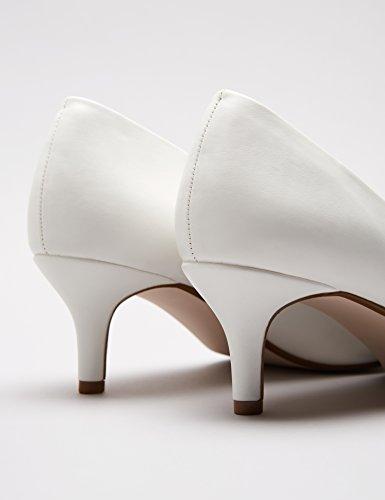 FIND Damen Pumps mit Kitten-Heels, Weiß (White), 39 EU
