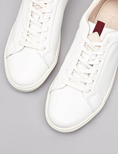 FIND Sneaker Herren Aus Leder, mit Retro-Design, Weiß (White), 46 EU