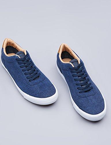 FIND Sneaker Herren Aus Wildleder, mit Retro-Design und profilierter Gummisohle, Blau (Navy), 45 EU