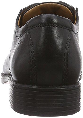Clarks Tilden Plain, Herren Derby Schnürhalbschuhe, Schwarz (Black Leather), 45 EU (10.5 Herren UK)