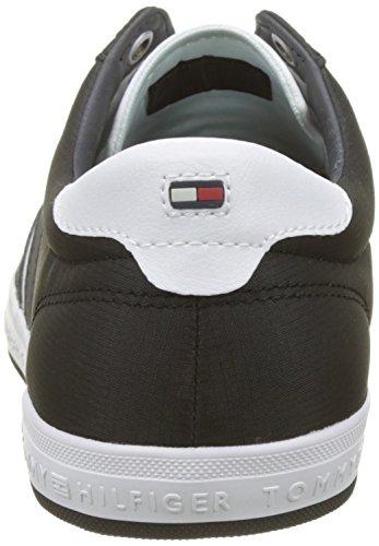 Tommy Hilfiger Herren Essential Flag Detail Sneaker, Schwarz (Black 990), 42 EU
