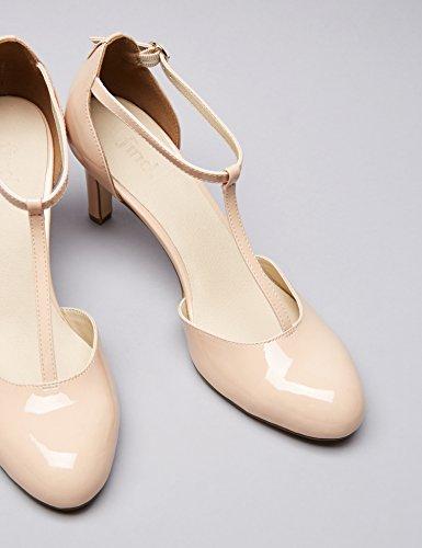 FIND Damen Mary Jane-Schuhe, Pink (Nude), 39 EU