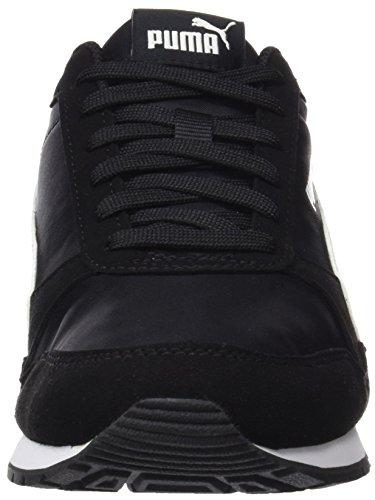 Puma Unisex-Erwachsene ST Runner V2 NL Sneaker, Schwarz Black White 01, 42 EU