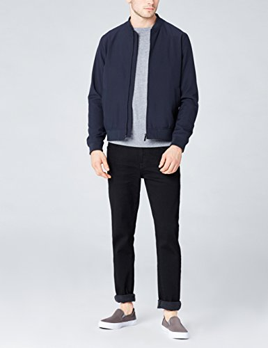FIND Sneaker Herren mit Strukturiertem Stoff und Rutschfester Sohle, Grau (Grey), 45 EU
