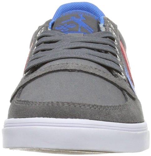Hummel SLIMMER STADIL LOW, Unisex-Erwachsene Sneakers, Grau (Castle Rock/Ribbon Red/Brilliant Blue), 43 EU (9 Erwachsene UK)