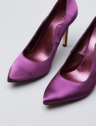 FIND Pumps Damen mit Samt-Look und gestuftem Ausschnitt, Violett (Purple), 37 EU