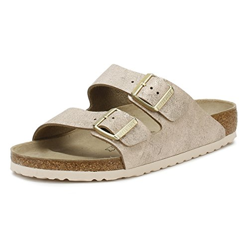BIRKENSTOCK Arizona VL Washed Metallic Rose Gold 37