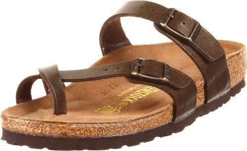 Birkenstock Mayari Damen Braun Leder Folien Sandalen Schuhe eu EU 37