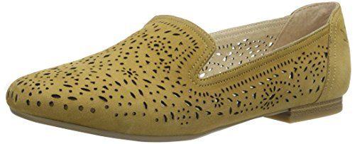 Caprice Damen 24501 Slipper, Gelb (Saffron Suede), Gr. 38 (Herstellergröße: 5)