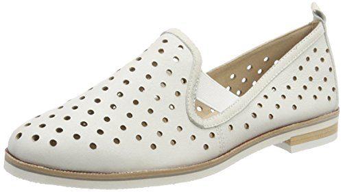 Caprice Damen Slipper, Weiß (White Metallic 138), 41 EU