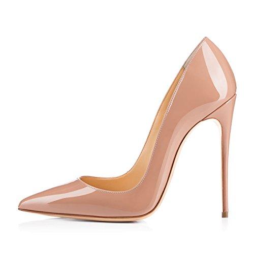 Damen Pumps Spitze Schuhe High-Heels Stiletto Mehrfarbig Hochzeit Party Ballsaal Rutsch hell Pink EU44
