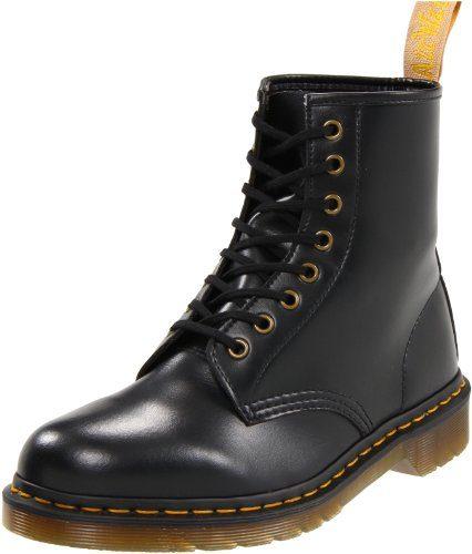 Dr. Martens 1460 Vegan BLACK, Unisex-Erwachsene Combat Boots, Schwarz (Black), 42 EU (8 Erwachsene UK)