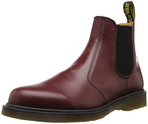 Dr. Martens 2976 Smooth CHERRY RED, Unisex-Erwachsene Chelsea Boots, Rot (Cherry Red), 39 EU (6 Erwachsene UK)