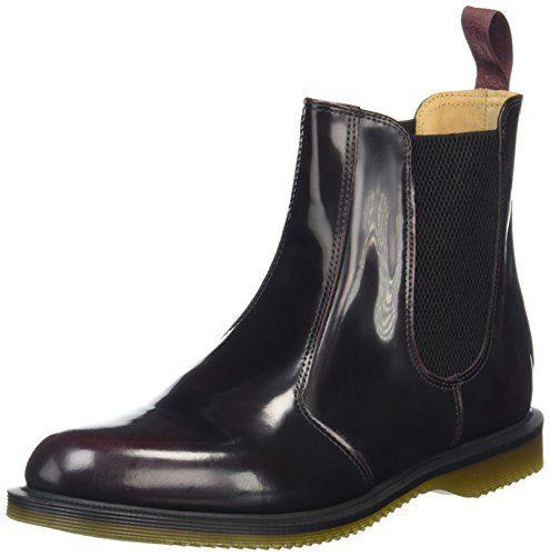 Dr. Martens FLORA Arcadia CHERRY RED, Damen Chelsea Boots, Rot (Cherry Red), 38 EU (5 Damen UK)