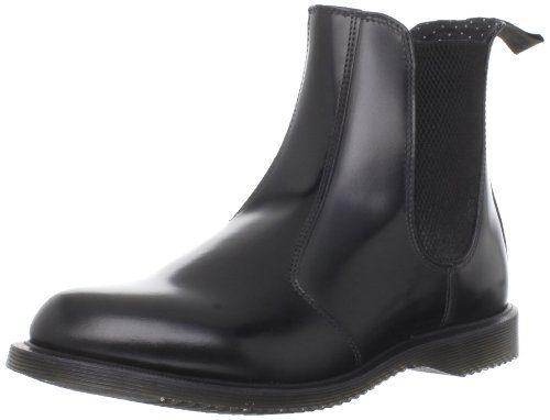 Dr. Martens FLORA Polished Smooth BLACK, Damen Chelsea Boots, Schwarz (Black), 42 EU (8 Damen UK)