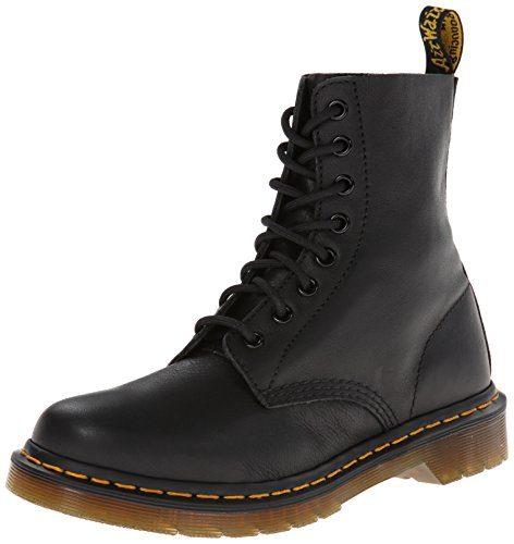 Dr. Martens Pascal Virginia Black, Damen Combat Boots, Schwarz (Black), 43 EU (9 Damen UK)