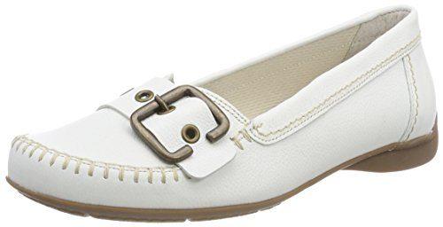 Gabor Shoes Damen Comfort Sport Geschlossene Ballerinas, Weiß (Weiss (S.Natur)), 40.5 EU