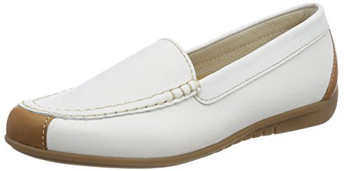Gabor Shoes Damen Jollys Slipper, Weiß (Weiss/Cognac), 37.5 EU