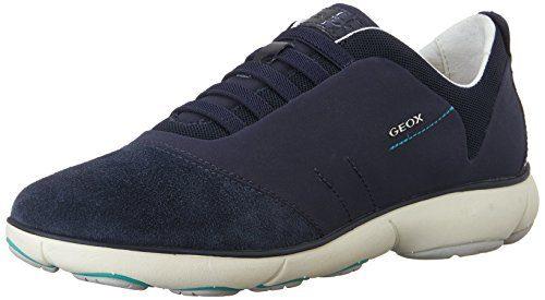 Geox D Nebula C, Damen Sneakers, Blau (NAVYC4002), 39 EU