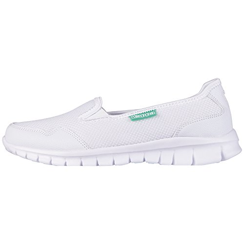 Kappa Gomera Footwear Women, Mesh/Synthetic, Damen Geschlossene Ballerinas, Weiß (1037 White/Mint), 39 EU (6 Damen UK)