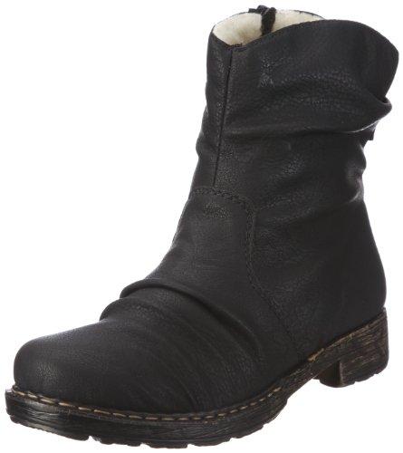 Rieker 79260 Damen Stiefeletten, schwarz (schwarz/00), 42