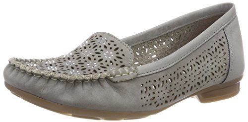 Rieker Damen 40075 Slipper, Grau (Cement/Staub), 39 EU