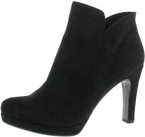 Tamaris 1-25316-20-001 Schuhe Damen Stiefeletten Plateau Ankle Boots , Schuhgröße:39;Farbe:Schwarz