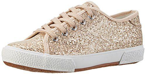Tamaris Damen 23610 Sneakers, Mehrfarbig (LT.Gold Glam 979), 38 EU