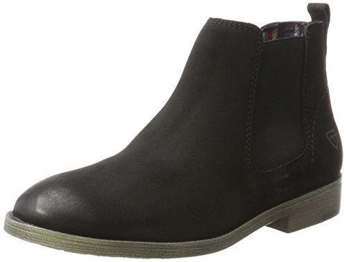 Tamaris Damen 25071 Chelsea Boots, Schwarz (Black), 37 EU