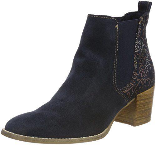 Tamaris Damen 25303 Chelsea Boots, Blau, 41 EU