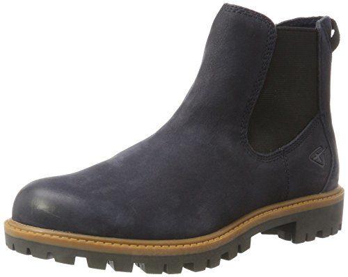 Tamaris Damen 25401 Chelsea Boots, Blau (Navy), 39 EU