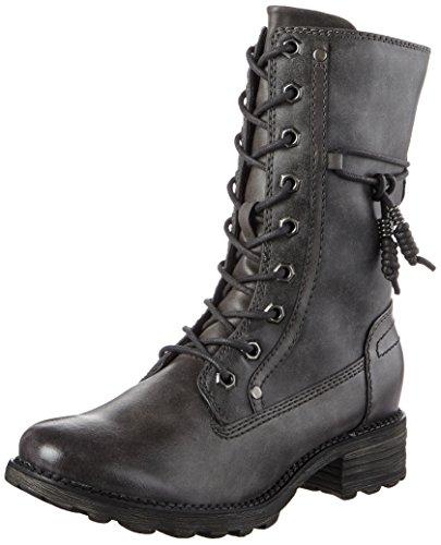 Tamaris Damen 26217 Combat Boots, Grau (Graphite), 40 EU