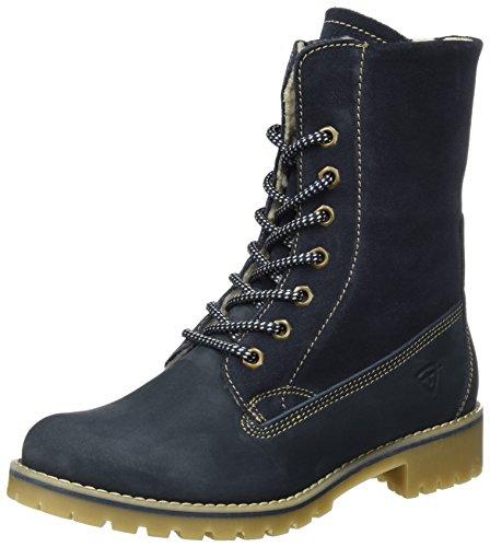 Tamaris Damen 26443 Combat Boots, Blau (Navy), 41 EU